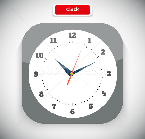 Stock photo: Time and Clock App Icon