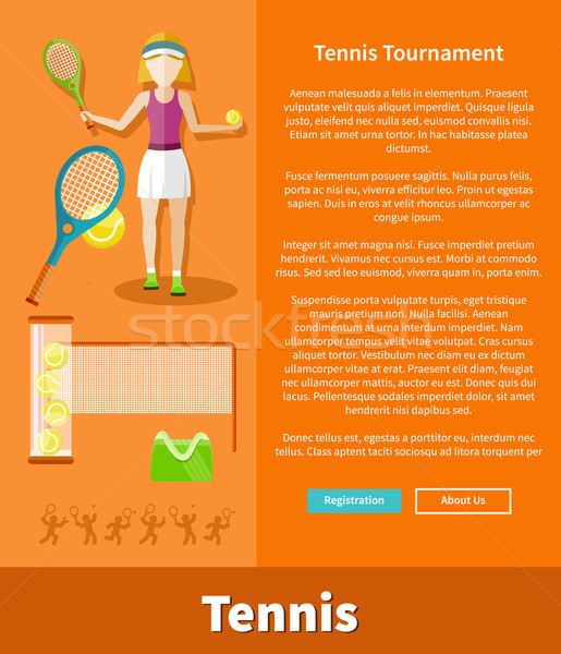 Tennis and tournament web interface page Stock photo © robuart