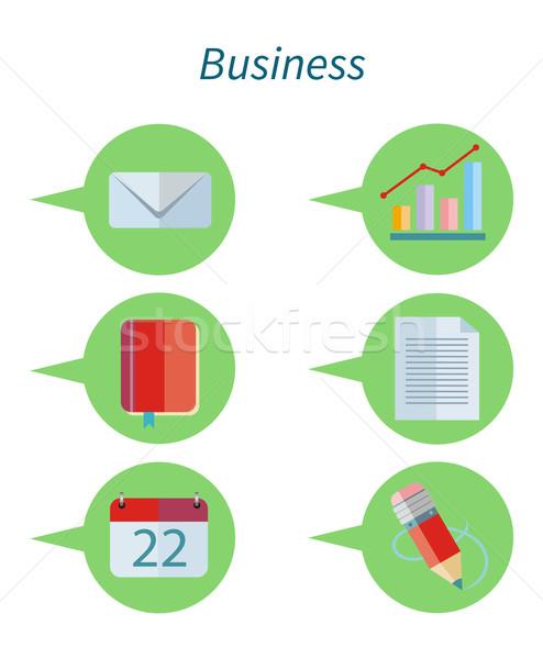 Negócio projeto conjunto ícone os ícones do web Foto stock © robuart