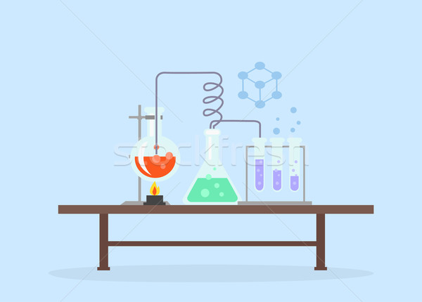 Biology Laboratory Workspace and Science Equipment Stock photo © robuart