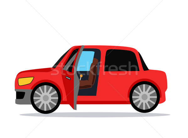 Autó ikon tárgy logo piros autó Stock fotó © robuart