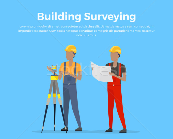 Building Surveying Vector Illustration Stock photo © robuart