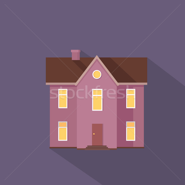 Kleurrijk woon- huisje violet kleuren twee Stockfoto © robuart