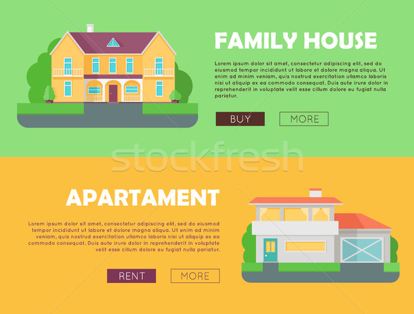 Family House Concept. Modern Apartment Concept. Stock photo © robuart