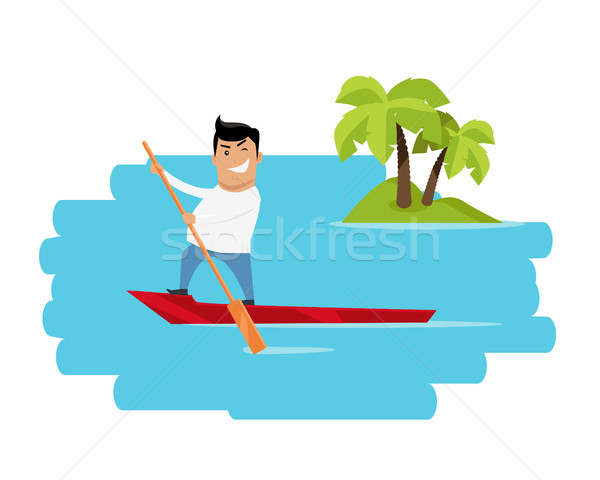 Vacances tropiques loisirs design vacances d'été exotique Photo stock © robuart