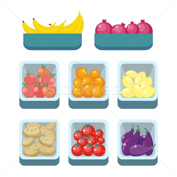 Grocery Store Assortment. Healthy Nutrition. Stock photo © robuart