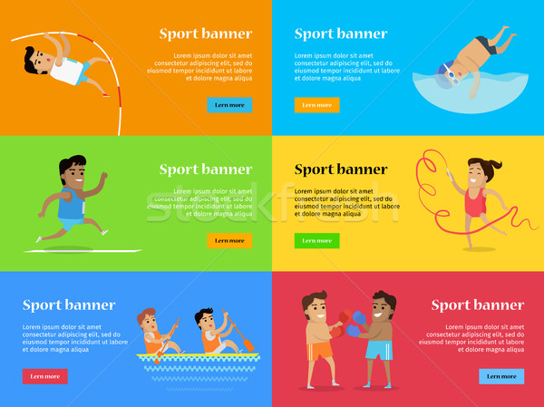 Deporte banners verano juegos establecer colección Foto stock © robuart