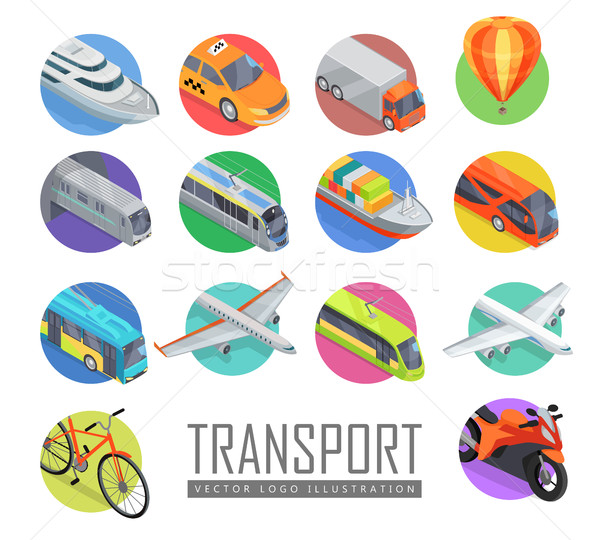Transport Vector Logo Illustration. Set of Icons Stock photo © robuart