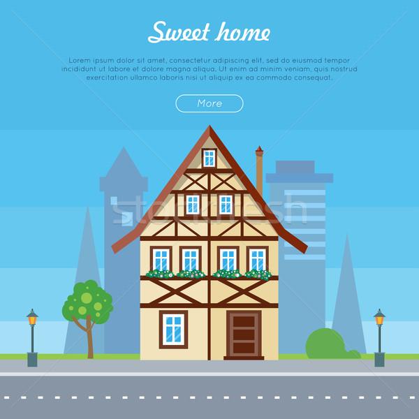 Dulce casa casa banner anunciante plantilla Foto stock © robuart