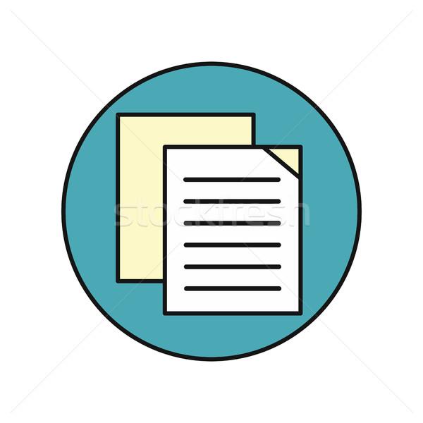 Zdjęcia stock: Arkusza · papieru · ikona · biały · listy · ulotki