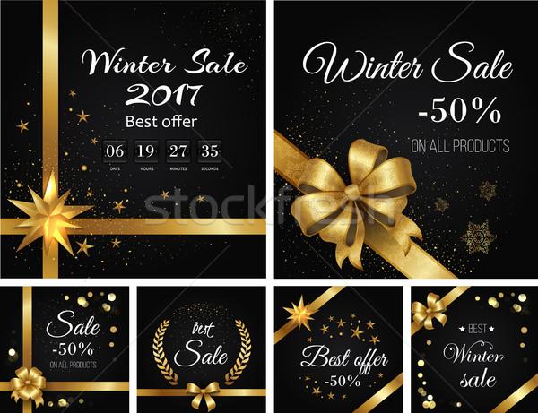 Winter Verkauf besten bieten alle Produkte Stock foto © robuart