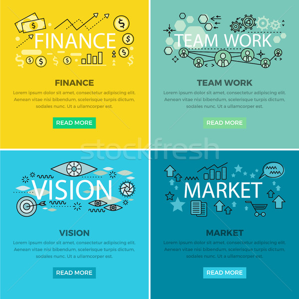 Stock photo: Set of Conceptual Business Vector Web Banners