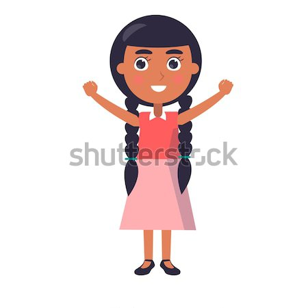 Indian Smiling Girl Wishes Happy Childrens Day. Stock photo © robuart