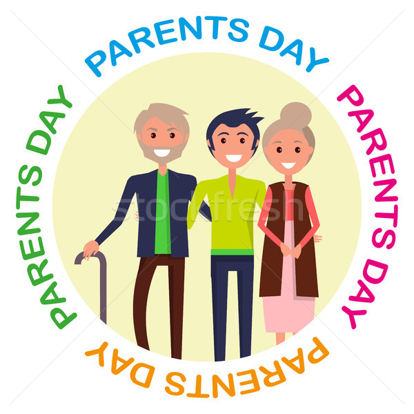 Parents Day Poster with Circle Inscription Stock photo © robuart