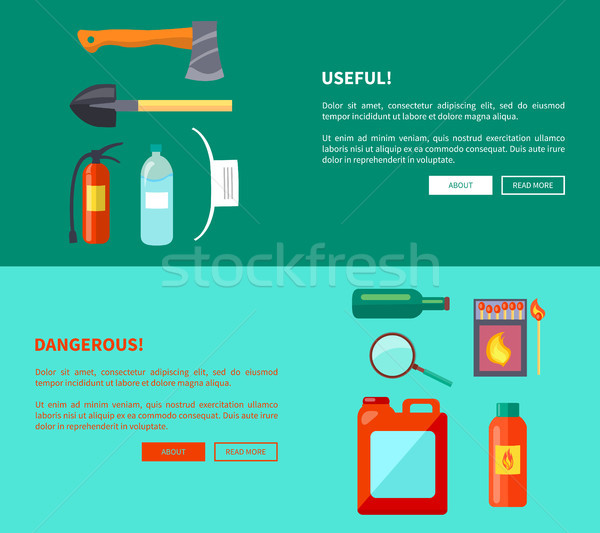 Useful and Dangerous Fire-Related Objects Posters Stock photo © robuart