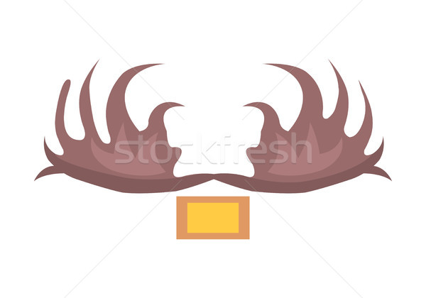 Moose Antlers Isolated Cartoon Style Illustration Stock photo © robuart