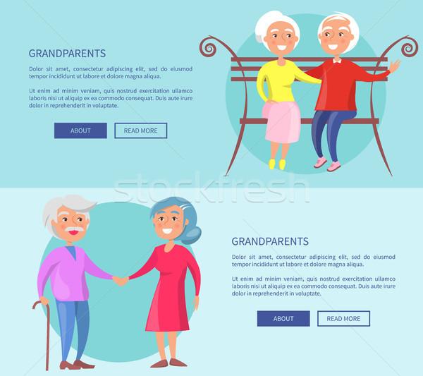 дедушка и бабушка плакатов зрелый пары вместе пару Сток-фото © robuart