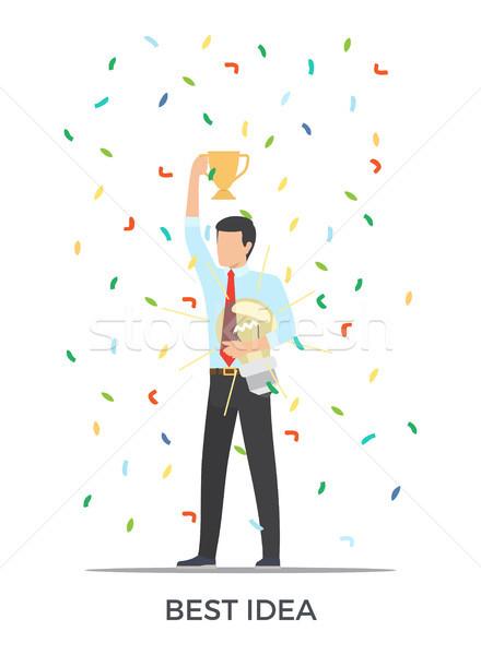 Best Idea Triumph on Vector Illustration White Stock photo © robuart