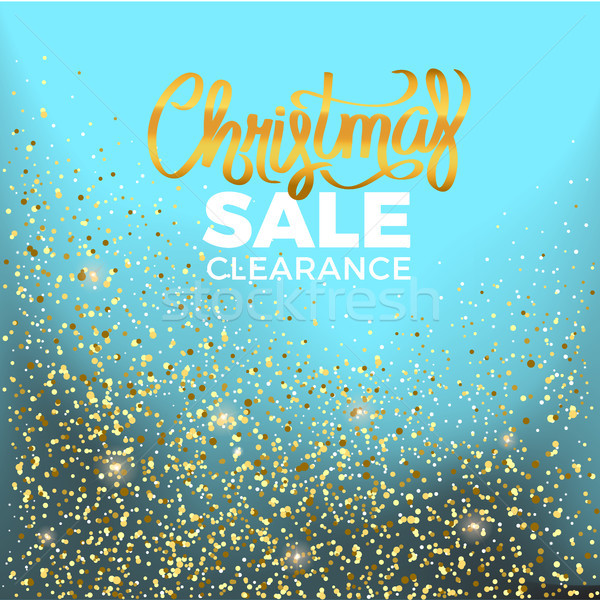 Christmas Sale Clearance Vector Illustration Stock photo © robuart