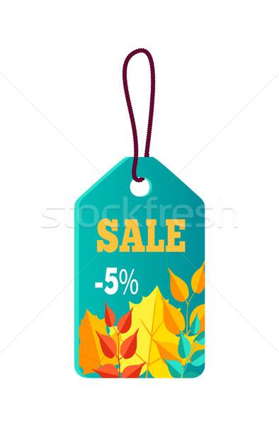 продажи синий Label кружево наклейку текста Сток-фото © robuart