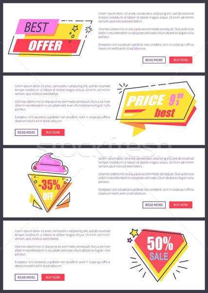Best Offer Sale Advertising Vector Illustration Stock photo © robuart
