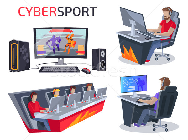 Cybersport Set of Icons on Vector Illustration Stock photo © robuart