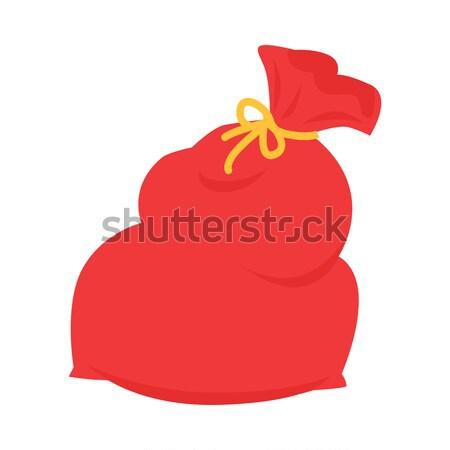 Дед Мороз красный сумку изолированный белый рождество Сток-фото © robuart