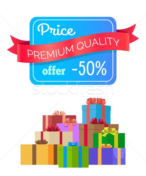 Prix prime qualité proposer étiquette Photo stock © robuart
