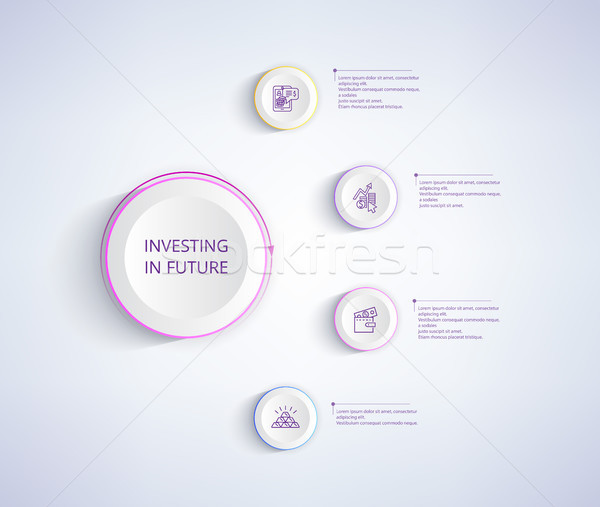 Investing in Future Infographic Poster with Wallet Stock photo © robuart