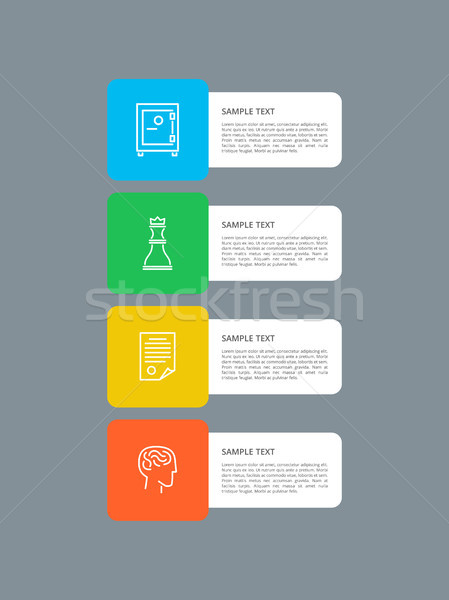 Stock photo: Infographic Elements Squared Vector Illustration