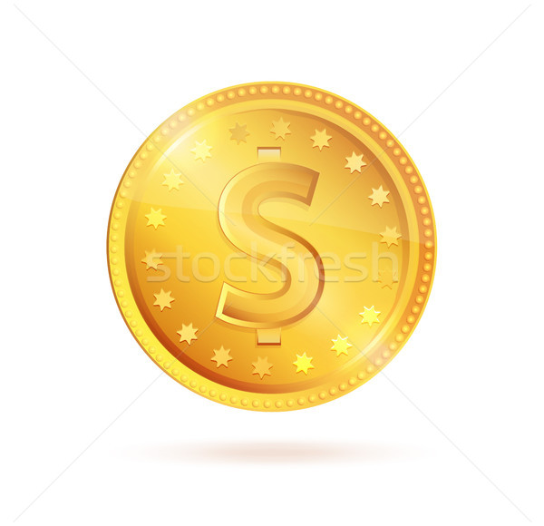 монеты знак доллара вектора символ изолированный Сток-фото © robuart
