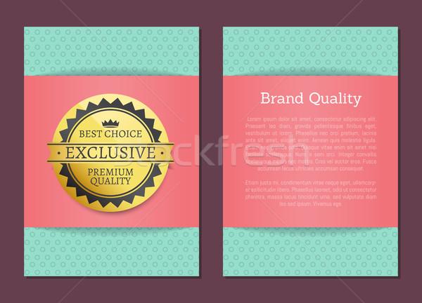 Márka minőség legjobb választás bélyeg arany címke Stock fotó © robuart