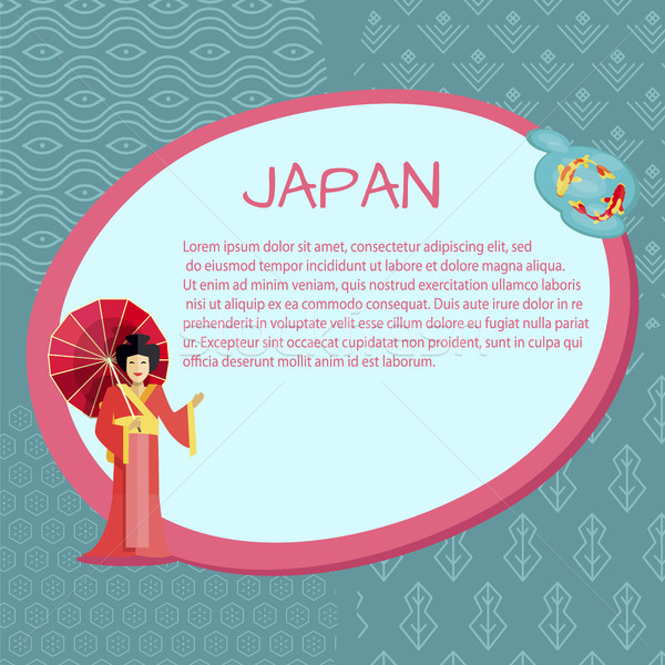 Japan Promotional Informative Poster Template Stock photo © robuart