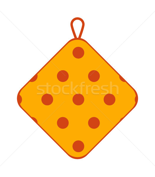Potholder Made of Textile with Polka Dot Pattern Stock photo © robuart