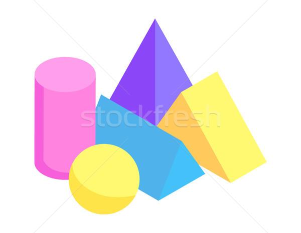 Diverso geometrica raccolta colore banner luminoso Foto d'archivio © robuart