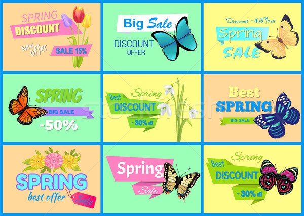 Spring Discount New Offer Vector Illustration Stock photo © robuart