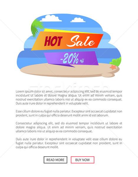 Caldo vendita 20 estate poster Foto d'archivio © robuart