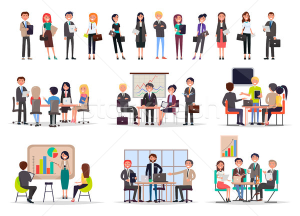 Successful Business People on Meetings Poster Stock photo © robuart