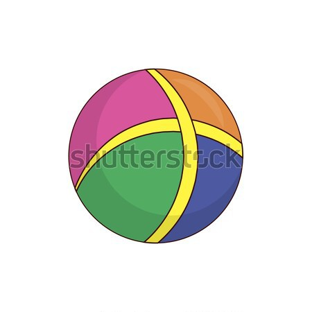 Colorful Rubber Childish Ball for Active Pastime Stock photo © robuart