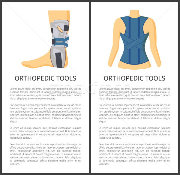 Orthopedic Tools for People Vector Illustration Stock photo © robuart