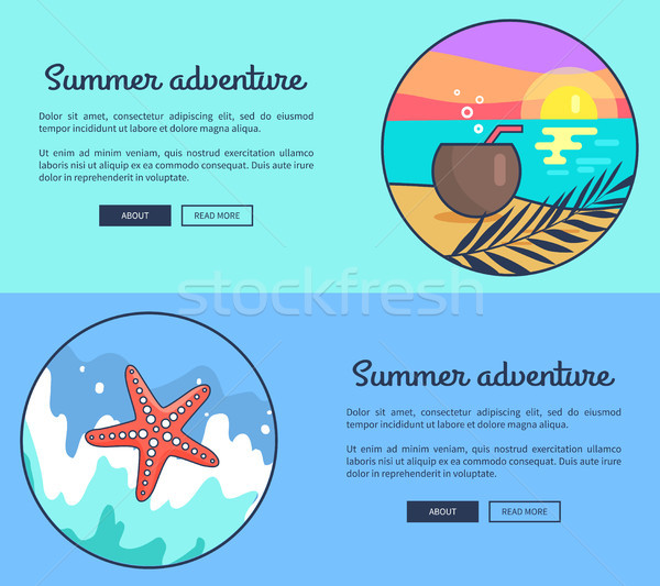 Set of Banners Dedicated to Summer Adventures Stock photo © robuart