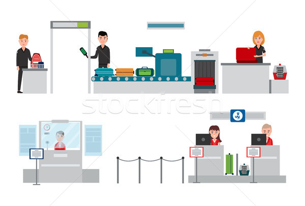 Security and Passport Control Vector Illustration Stock photo © robuart