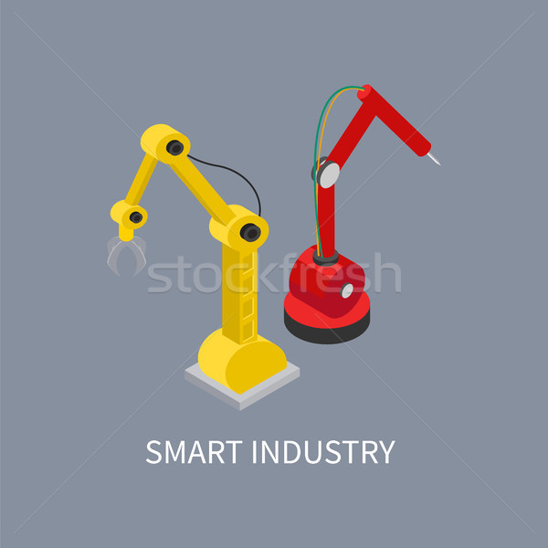 Smart Industry Production Vector Illustration Stock photo © robuart