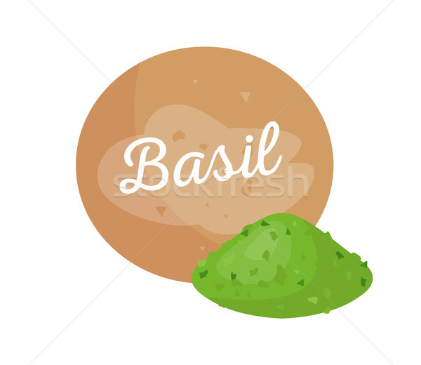 Basil Spice and Headline Basilic Plant Powder Stock photo © robuart