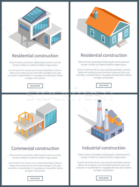 Residential and Industrial Page Vector Illustration Stock photo © robuart