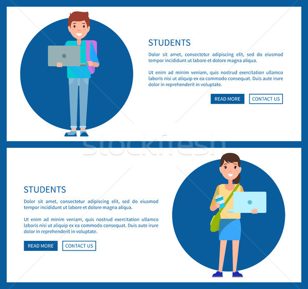 学生 ポスター を 教育 ベクトル ウェブ ストックフォト © robuart