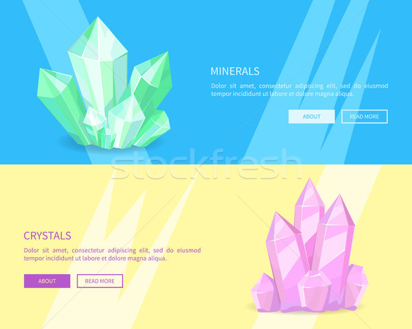 Minerals Crystals Web Posters Online Push Buttons Stock photo © robuart