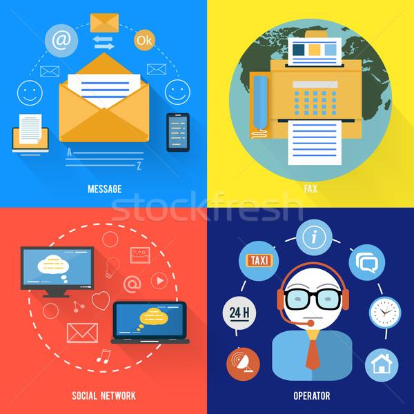 メッセージ ファックス 社会的ネットワーク サポート アイコン デザイン ストックフォト © robuart