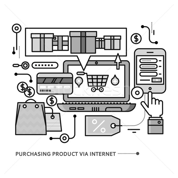 Stock photo: Purchasing, Delivery of Product via Internet