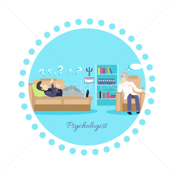 Psychologist Concept Icon Flat Isolated Stock photo © robuart